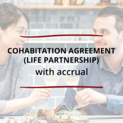 Cohabitation Agreement Life Partnership–with Accrual Saved For Web