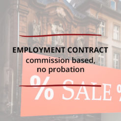 Employment Conract Commission based no probation Saved For Web3