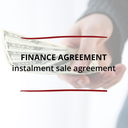Finance Agreement–Instalment Sale Agreement Saved For Web