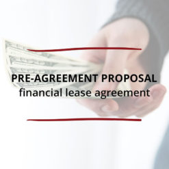 Pre Agreement Proposal–Financial Lease Agreement Saved For Web