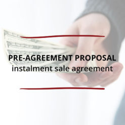 Pre Agreement Proposal–Instalment Sale Agreement Saved For Web