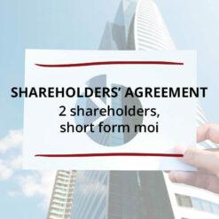 Shareholders' Agreement–2 Shareholders Short Form MOI Saved For Web 1