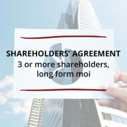 Shareholders' Agreement–3 or more shareholders Long Form MOI Saved For Web