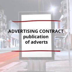 AO product image   CONTRACT   Advertising Contract   publication of adverts