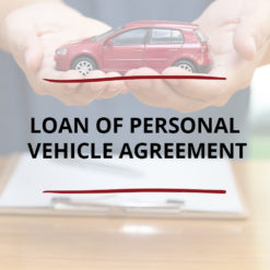 AO product image   CONTRACT   Loan of Personal Vehicle Agreement