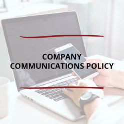 Company Communications Policy Saved For Web2