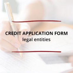 Credit Application Form–Legal Entities Saved For Web