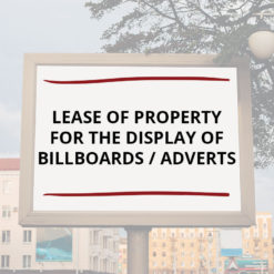 Lease of Property for the Display of Billboards Adverts Saved For Web