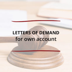 Letters of Demand–for own account Saved For Web