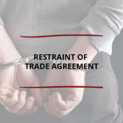 Restraint of Trade Agreement Saved For Web2
