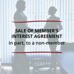 Sale of Member's Interest Agreement–in part to a non member Saved For Web