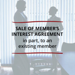 Sale of Member's Interest Agreement–in part to an existing member Saved For Web2
