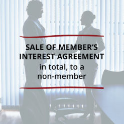 Sale of Members Interest Agreement–in total to a non member Saved For Web
