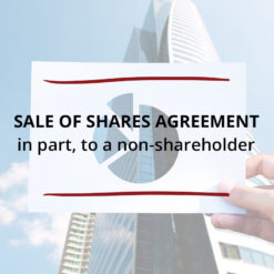 Sale of Shares Agreement–in part to a non shareholder Saved For Web