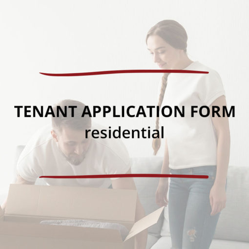Tenant Application Form–Residential Saved For Web