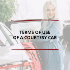 Terms of Use of a Courtesy Car Saved For Web