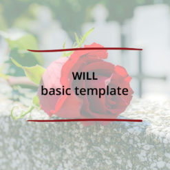 Will–basic template Saved For Web