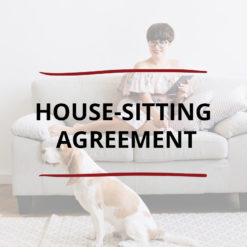AO product image   CONTRACT   House sitting Agreement