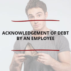 Acknowledgement of Debt by an Employee Saved For Web2