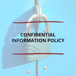 Confidential Information Policy Saved For Web2