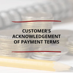 Customer s Acknowledgement of Payment Terms Saved For Web