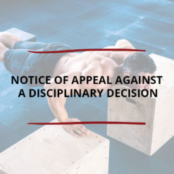 Notice of Appeal against a Disciplinary Decision Saved For Web2