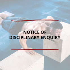 Notice of Disciplinary Enquiry Saved For Web2