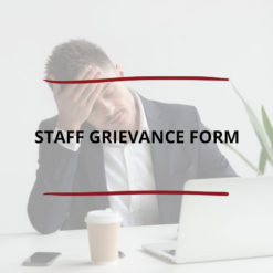 Staff Grievance Form Saved For Web