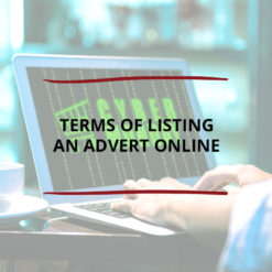 Terms of Listing an Advert Online Saved For Web