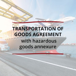 Transportation of Goods Agreement–with Hazardous Goods Annexure Saved For Web