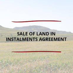 Sale of Land in Instalments Agreement Saved For Web 1