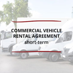 Commercial Vehicle Rental Agreement–Short term Saved For Web
