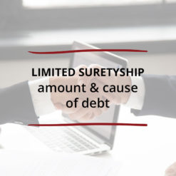 Limited Suretyship–Amount Cause of Debt Saved For Web