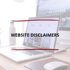 Website Disclaimers Saved For Web