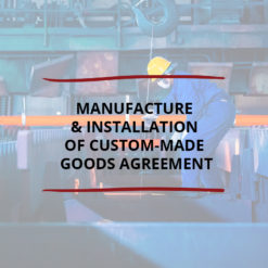 AO product image   CONTRACT   Manufacture  Installation of Custom made Goods Agreement