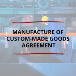 AO product image   CONTRACT   Manufacture of Custom made Goods Agreement