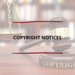 Copyright Notices Saved For Web