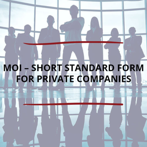 MOI–Short Standard Form for Private Companies Saved For Web2