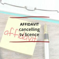 Affidavit – Cancelling TV Licence Saved For Web