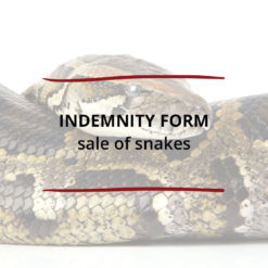 Indemnity Form–Sale of Snakes Saved For Web