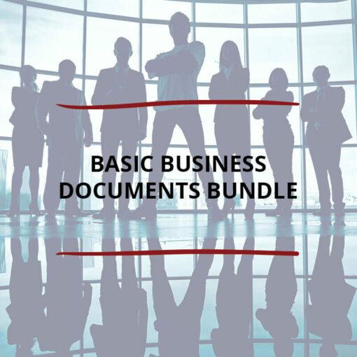 Basic Business Documents Bundle Saved For Web2